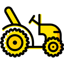 Farm, Automobile, engine, transportation, transport, vehicle, tractor Black icon