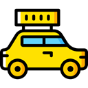 transport, vehicle, taxi, Automobile, Car, transportation Black icon