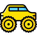 vehicle, Automobile, Monster Truck, transportation, transport Gold icon