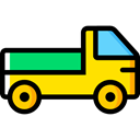 Automobile, Cargo Truck, Delivery, transportation, truck, transport, vehicle Black icon