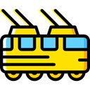Automobile, Public transport, transportation, transport, vehicle, Tram Black icon