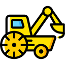 transport, Construction, cargo, loader, trucking, Construction And Tools, transportation, truck Black icon