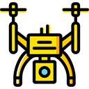Camera, transportation, transport, fly, Remote control, drone Black icon