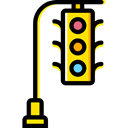 stop, light, Business, Traffic light, transportation, Road sign, buildings, Stop Signal Black icon