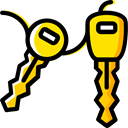 car key, Keys, Car, transportation, cars Black icon