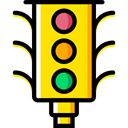 Stop Signal, transportation, Road sign, buildings, Signaling, stop, light, Business, Traffic light Black icon