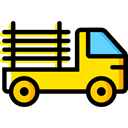 Pickup, pickup truck, transportation, truck, transport, vehicle Icon