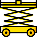 lifter, Weightlifter, Cargo Truck, transportation, transport, trucking Black icon