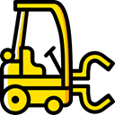 Fork, transportation, truck, transport, vehicle, lift, Forklift, Industrial, Shipping And Delivery Black icon