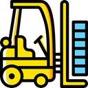 Shipping And Delivery, lift, Forklift, Industrial, Fork, transportation, truck, transport, vehicle Black icon