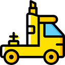 Lorry, transportation, truck, transport, Automobile, Delivery Truck, Cargo Truck Black icon