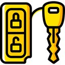 Keys, Car, transportation, cars, car key Gold icon