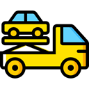 Crane, garage, Trucks, Cranes, transportation, truck, transport, mechanic Black icon