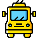 Automobile, Public transport, transportation, transport, vehicle, Trolleybus Black icon
