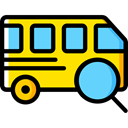 Automobile, Public transport, transportation, transport, vehicle, Bus Black icon