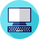 Tv, Computer, monitor, screen, television, pc, technology SkyBlue icon