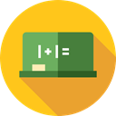 school, Class, Eraser, education, Blackboard Gold icon