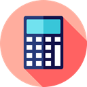education, calculate, buttons, finances, tool, calculator, Business LightPink icon