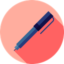 Office Material, education, writing, Tools And Utensils, School Material, pencil, Pen, miscellaneous LightPink icon