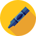 Crayon, Tools And Utensils, Crayons, write, Draw, education Gold icon