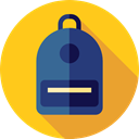 Backpack, luggage, baggage, Bags, travel Gold icon