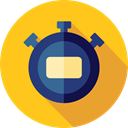 time, stopwatch, timer, Time And Date, interface, Chronometer, Wait, Tools And Utensils Gold icon