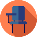 studying, High School, Desk Chair, education, student Coral icon