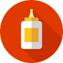 miscellaneous, Glue, Bottle, liquid OrangeRed icon