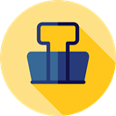 miscellaneous, Attachment, Paperclip, Clip, Clips, Tools And Utensils, School Material, Office Material Khaki icon