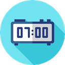 Clock, time, timer, alarm clock, Tools And Utensils, Time And Date SkyBlue icon