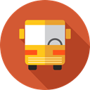 Automobile, Public transport, transportation, transport, vehicle, school bus Chocolate icon