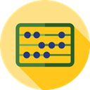 mathematics, calculator, Business, education, Calculating, Abacus, mathematical, maths, Tools And Utensils Gold icon