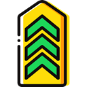 miscellaneous, Chevron, Military, Army Black icon