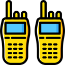 police, frequency, technology, Communication, Communications, walkie talkie Black icon