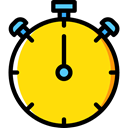Chronometer, Wait, Tools And Utensils, Time And Date, time, stopwatch, timer, interface Gold icon