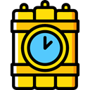 explosive, miscellaneous, Dynamite, weapons, Bomb, Detonation, Terrorism Gold icon