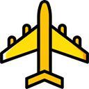 Aeroplane, airplane, transportation, Plane, transport, flight, Airport Icon