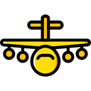 Airport, transportation, Plane, transport, flight, Aeroplane, airplane Black icon