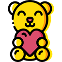 Fluffy, Love And Romance, Animals, teddy bear, childhood, puppet Gold icon