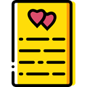 Love And Romance, love, writing, Love Letter, Valentines Day, Letter Gold icon