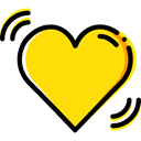Like, shapes, Peace, lover, Heart, interface, loving, Love And Romance Gold icon