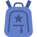 education, travel, Backpack, luggage, baggage, Bags SteelBlue icon