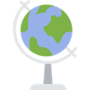 planet, education, Geography, Maps And Flags, Planet Earth, Earth Globe, Earth Grid Black icon