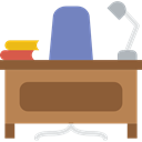 education, Chair, desk, Classroom, Teacher Desk Icon