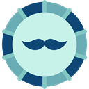 Masculine, male, Beauty, moustache, Costume PaleTurquoise icon
