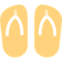 Flip flop, fashion, sandals, footwear, flip flops, Summertime Khaki icon