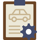 notepad, Car, repair, transportation, diagnostic, garage, Car Repair Icon