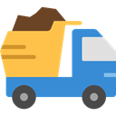transportation, truck, transport, vehicle, Automobile, dump truck SteelBlue icon