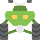 Motorbike, Motorcycle, quad, transportation, transport, Bike YellowGreen icon