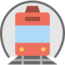 train, rails, travelling, transportation, travel, transport, street Gainsboro icon
